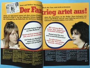 POP - Nr 16 1976 Sweet omslag + AFFISCH & POPSTICKERS