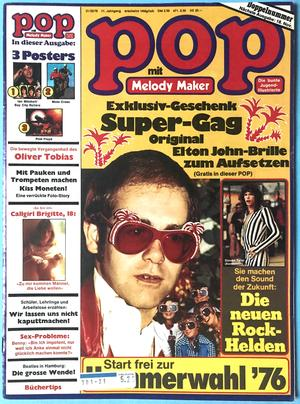 POP - No 21/22 1976 Elton John / Aerosmith cover + POSTER