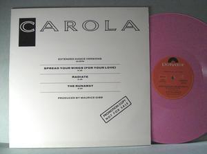 """CAROLA - Spread your wings... 12"""" Polydor Swe LP 1986"""