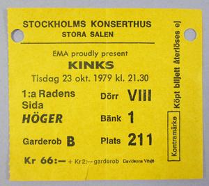 KINKS - Stockholm 1979