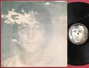 BEATLES JOHN LENNON - Imagine UK-orig LP 1971 FELTRYCKT omslag