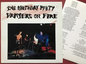 The BIRTHDAY PARTY (NICK CAVE) - Prayers on fire SIGNED LP 1981