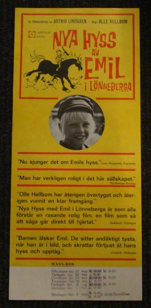 NYA HYSS AV EMIL I LÖNNEBERGA (ASTRID LINDGREN)