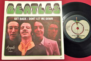 """BEATLES  - Get back 7"""" Swe PS 1969"""