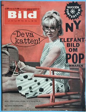 """BILDJOURNALEN - no  22 1964 with """"Elephant""""-POSTER Jerry Williams"""