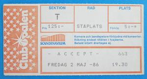 ACCEPT - Gothenburg 1986