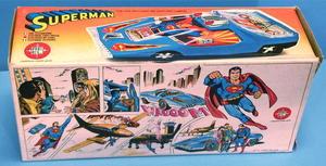 STÅLMANNEN - SUPERMAN - Bil i kartong 1980