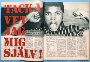 "BILDJOURNALEN - no 15 1964 with ""Elephant""-POSTER / Cassius Clay article"