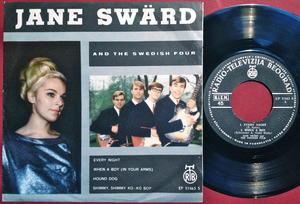 JANE SWÄRD & SWEDISH FOUR - Every night +3 EP Swe 1965