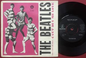 """BEATLES - Can´t buy me love 7"""" pink Swe PS 1964"""