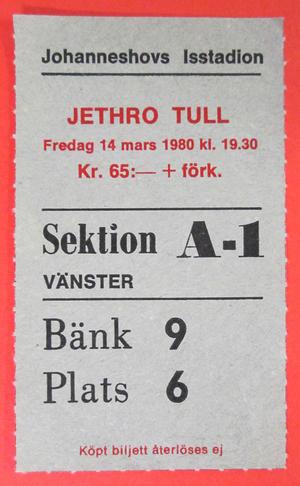 JETHRO TULL - Stockholm 1980