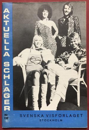 ABBA / Sweet mfl. Aktuell schlager nr 139 - 1975 Nothäfte