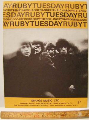 Rolling Stones - Ruby Tuesday / Sheet musik