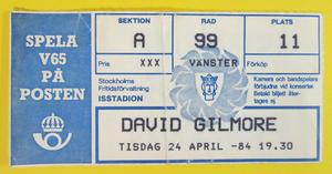 DAVID GILMOUR - Stockholm 1984