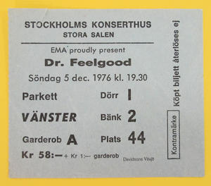 DR FEELGOOD - Stockholm 1976