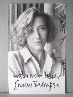 EMMA THOMPSON Äkta autograf på äkta foto !
