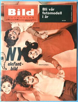 "BILDJOURNALEN - no 16 1965 with SHANES ""Elephant""-POSTER"