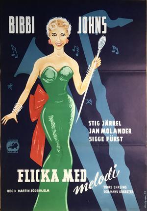 FLICKA MED MELODI (1954)