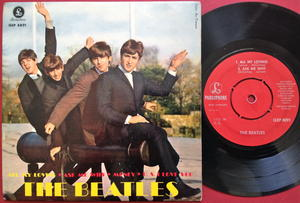 BEATLES - All my loving + 3 EP Swe 1963 Super rare RED label