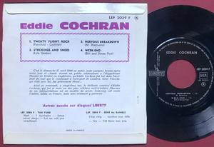 EDDIE COCHRAN - The unforgettable Fra EP 1962