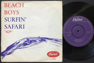 "BEACH BOYS - Surfin'  Safari 7"" Sweden 1962"