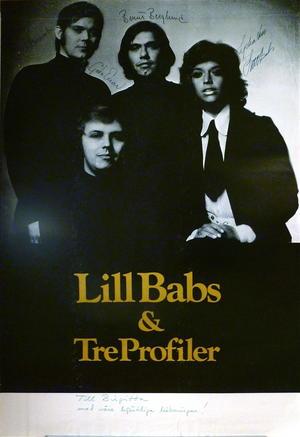LILL-BABS & TRE PROFILER (1970´s) - Turneaffisch