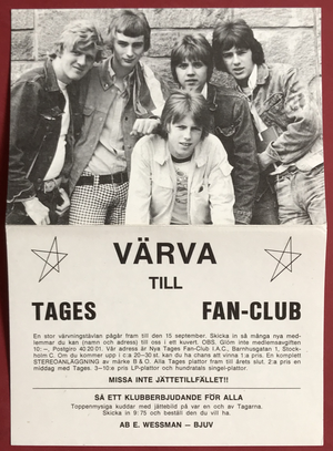 TAGES - 2 Swe-orig LP 1966