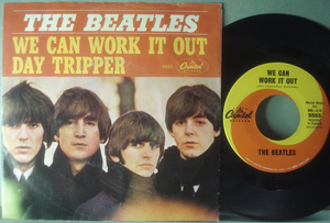 "BEATLES - We can work it out 7"" US 1965 PS"