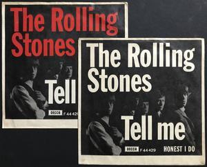 ROLLING STONES - Tell me Danish WHITE PS 1964