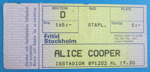 ALICE COOPER - Stockholm 1989