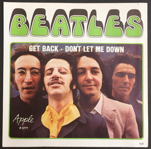 "BEATLES -  Get back 7"" Swe-69 PS ONLY - Archive copy / MINT-!"
