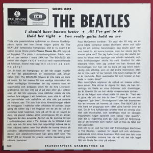 BEATLES -  I should have known better + 3 EP Swe-64 ENDAST PS - Arkivex / MINT-!