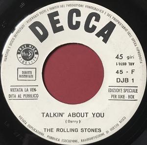 ROLLING STONES - Con le mie lacrime / Talkin´ bout you Italien Jukebox PROMO 45  1966