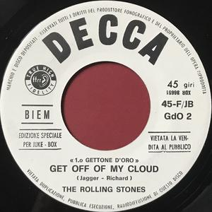 OLLING STONES - Little red rooster / Get off of my cloud Italy Jukebox PROMO 45 1965