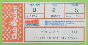 DIO - Gothenburg 1984