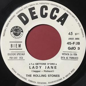 ROLLING STONES - The last time / Lady Jane Italien Jukebox PROMO 45  1966