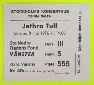 JETHRO TULL - Stockholm 1976