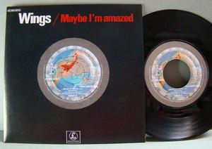 "PAUL McCARTNEY & WINGS (Beatles) Maybe I´m amazed7"" Fra 1977"