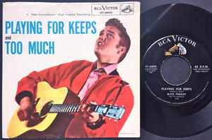 ELVIS PRESLEY - Playing for keeps US PS 1957
