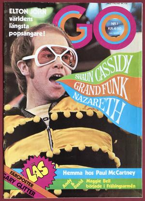 GO no 1 1975 ELTON JOHN omslag