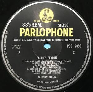 RAINBOW FFOLLY - Sallies fforth UK-orig LP 1968