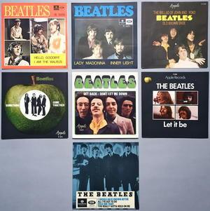 * BEATLES - Swedish sleeves 1965-70 SET of 19 / MINT-!