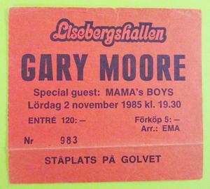 GARY MOORE - Göteborg 1985