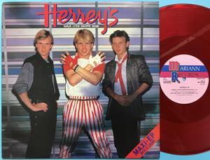 "HERREYS - Varje liten droppe regn ULTRARARE RÖD Vinyl Swe-orig 12"" 1985"