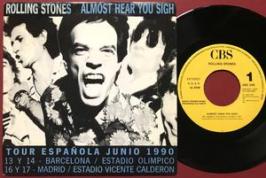 ROLLING STONES - Almost hear you sigh Spain PROMO PS 1989
