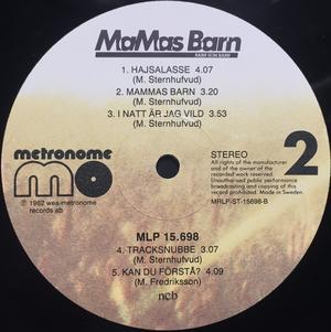 MAMAS BARN - Barn som barn Swe-orig LP 1982 + PROMO flyer