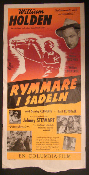 RYMMARE I SADELN (WILLIAM HOLDEN, JOHNNY STEWART)