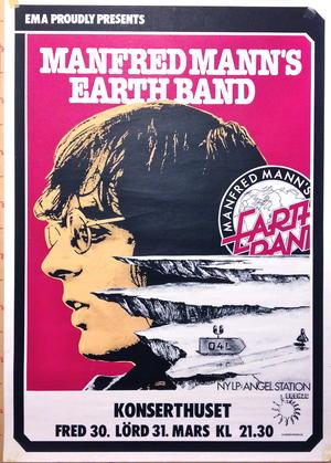 MANFRED MANN´S EARTH BAND (1980) Konsertaffisch