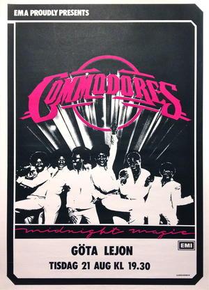 COMMODORES (ca 1980) Konsertaffisch