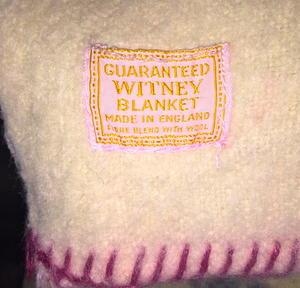 BEATLES - Jättestor FILT Witney blanket England 1964 - RARE!